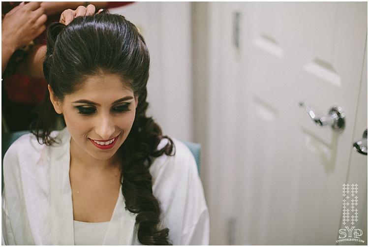 Mehndi bride getting ready