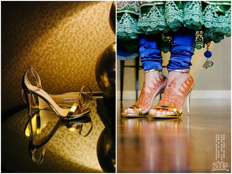 bridal shoes golden Steve Madden