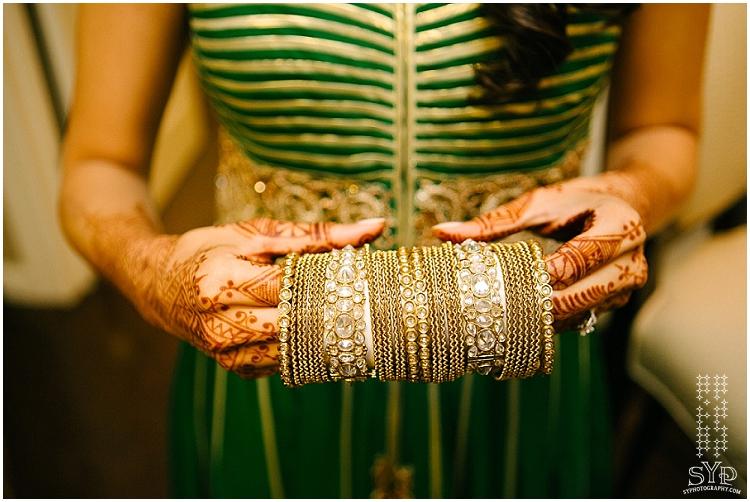 Indian wedding  bride getting ready