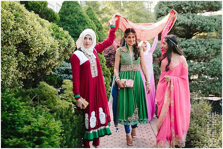 Southasian bride Mehndi entrance