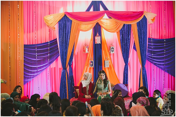Mehndi decor Muslim wedding