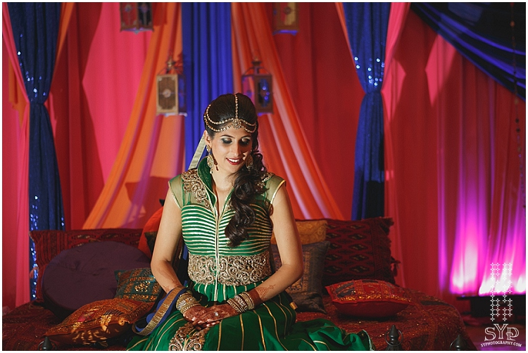 New York city Indian wedding photographer mehndi bride