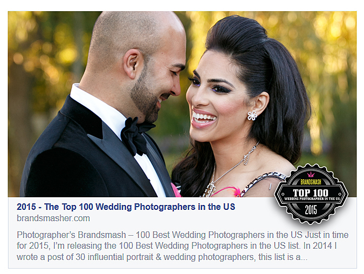 Top 100 Wedding Photographers in USA