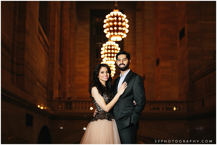 NYC engagement photo Grand Central Terminal