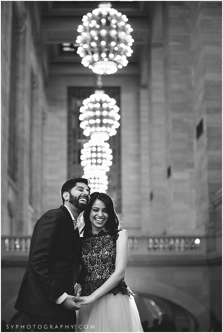 Engagement photo New York city Grand Central