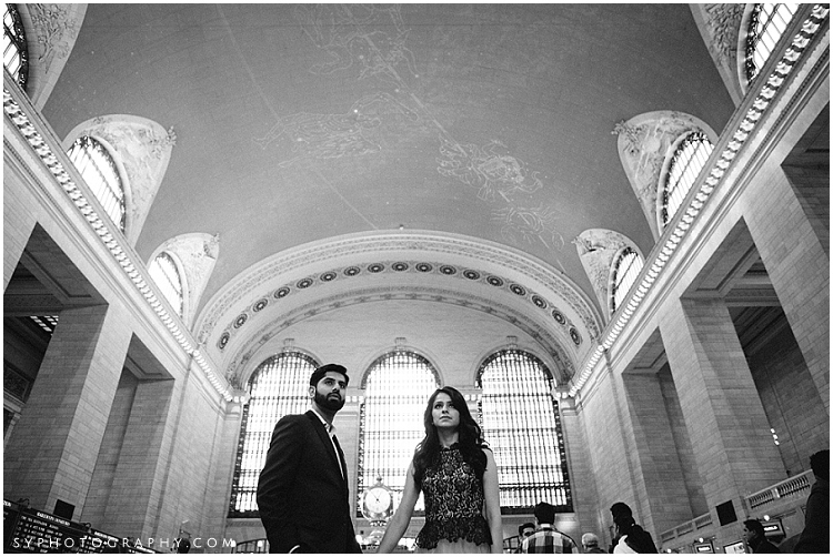 Grand Central terminal engagement photo idea