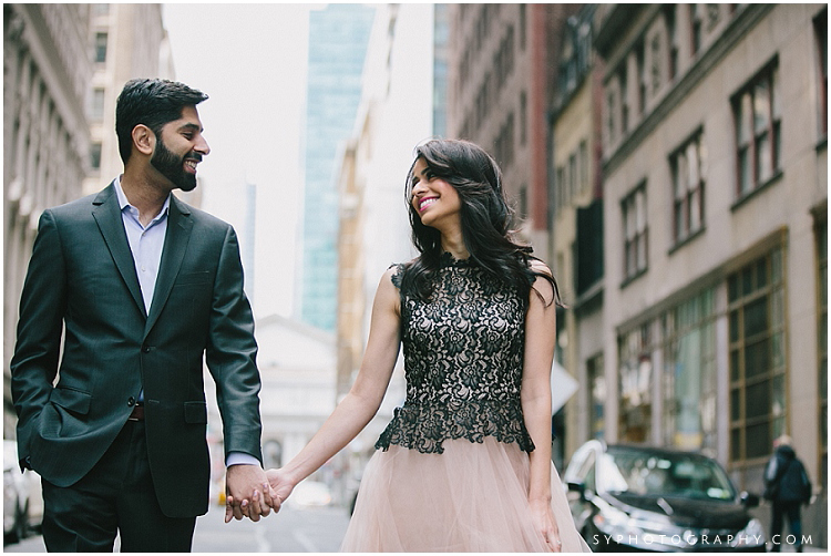 New York city 5th ave engagement photo wedding