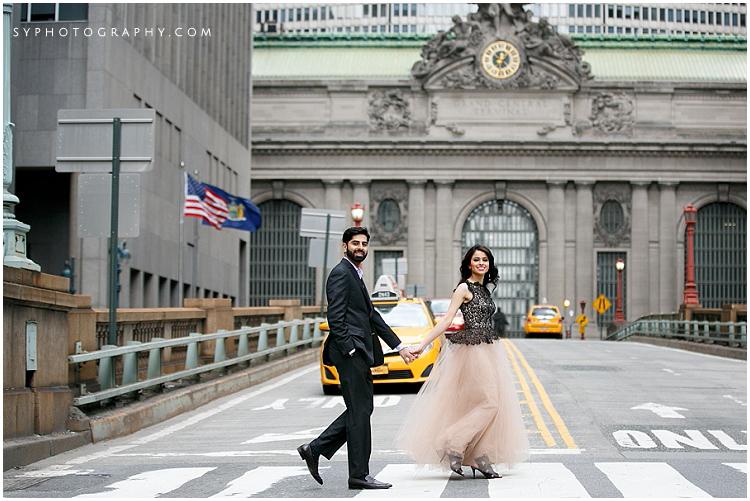 Park avenue engagement photo