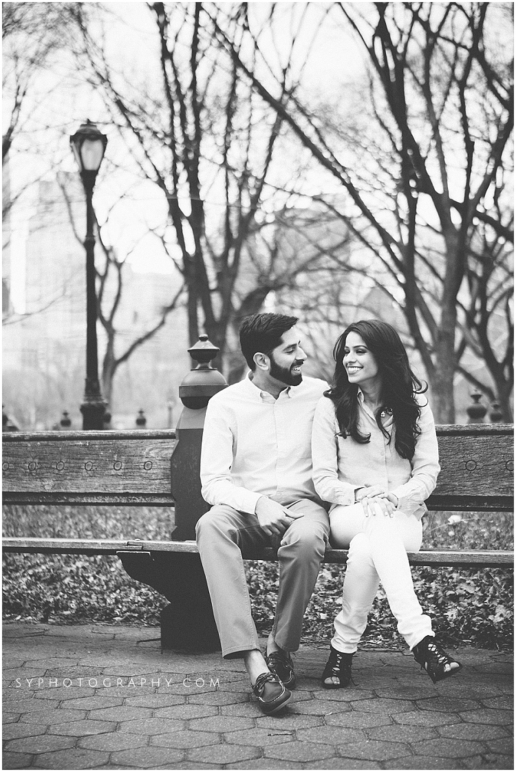 NYC Spring starting Central Park engagement photographer